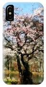 Geese Under Flowering Tree IPhone Case