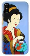 Geisha With Fish IPhone Case