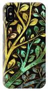 Gemstone Tree With Golden Decor IPhone Case