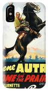 Gene Autry In Home On The Prairie 1939 IPhone Case