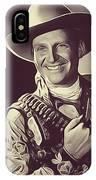 Gene Autry, Vintage Actor/singer IPhone Case
