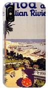 Genoa And The Italian Rivera Vintage Poster Restored IPhone Case