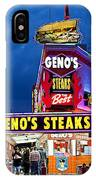 Geno's Steaks South Philly IPhone Case