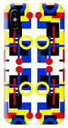 Geometric Shapes Abstract Square 2 IPhone Case