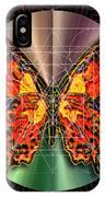 Geometron Fyr Lepidoptera IPhone Case