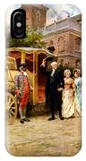 George Washington Arriving At Christ Church IPhone Case