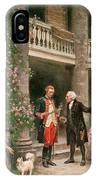 George Washington At Bartrams Garden IPhone Case