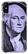 George Washington In Light Purple IPhone Case