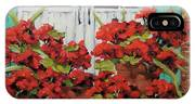 Geraniums On The Porch IPhone Case