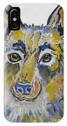 German Shepherd Painting IPhone Case
