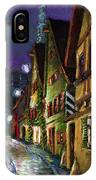 Germany Ulm Old Street Night Moon IPhone Case