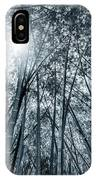 Giant Bamboo In Forest With Sunflare, Black And White IPhone Case