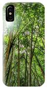 Giant Bamboo In Forest With Sunflare IPhone Case