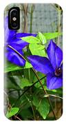 Giant Blue Clematis IPhone Case