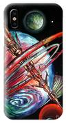 Giant, Old Red Space Shuttle Of Alien Civilization IPhone Case