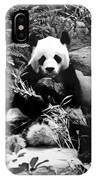 Giant Panda In Black And White IPhone Case