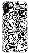 Gibberish Black And White Abstract IPhone Case