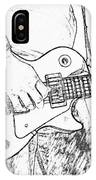 Gibson Les Paul Guitar Sketch IPhone Case