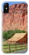 Gifford Homestead Barn - Capitol Reef National Park IPhone Case