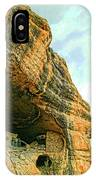Gila Cliff Dwellings Looking Up IPhone Case