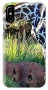 Giraffe Feasting IPhone Case