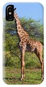 Giraffe On Savanna. Safari In Serengeti IPhone Case