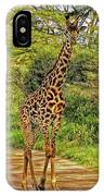 Giraffe On The Trail IPhone Case
