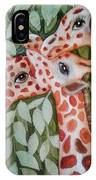 Giraffe Trio By Christine Lites IPhone Case