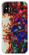 Girl Arranging Flowers IPhone Case
