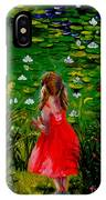 Girl By Lily Pond IPhone Case