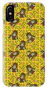 Girl With Popsicle Yellow Floral IPhone Case
