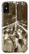Girls  Doing The Maypole Dance Pacific Grove Circa 1890 IPhone Case
