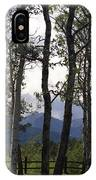 Glacier National Park Green Trees Mountains IPhone Case