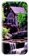 Glade Creek Grist Mill 004 IPhone Case