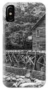 Glade Creek Grist Mill 2 Bw IPhone Case