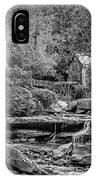 Glade Creek Grist Mill 3 Bw IPhone Case