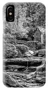 Glade Creek Grist Mill 3 - Paint 2 Bw IPhone Case