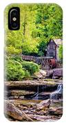 Glade Creek Grist Mill 3 - Paint IPhone Case