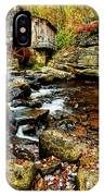 Glade Creek Grist Mill Fall  IPhone Case
