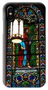 Glass Window Of Saint Philip In The Basilica In Santa Fe  IPhone Case
