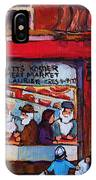 Glatts Kosher Meatmarket And Tailor Shop IPhone Case