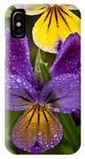 Glittered Wild Pansies IPhone Case