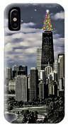 Glittering Chicago Christmas Tree IPhone Case