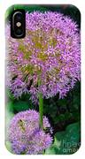 Globe Thistle Flowers IPhone Case