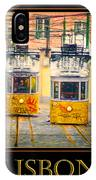 Gloria Funicular Lisbon Poster IPhone Case