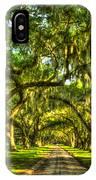 Glorious Entrance Tomotley Plantation South Carolina  IPhone Case