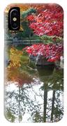 Glorious Fall Colors Reflection With Border IPhone Case