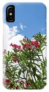Glorious Fragrant Oleanders Reaching For The Sky IPhone Case