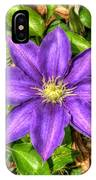 Glorious Glowing Clematis IPhone Case