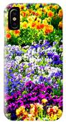 Glorious Pansies IPhone Case
